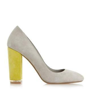 DUNE LADIES ADRIANE - Block Heel Round Toe Court Shoe - grey | Dune Shoes Online