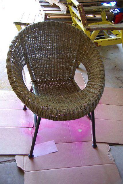 wicker chair redo