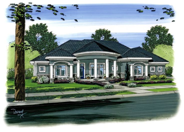 Southern House Plan with Custom Features - 62594DJ | Southern, 1st Floor Master Suite, Butler Walk-in Pantry, CAD Available, Den-Office-Library-Study, PDF, Split Bedrooms, Corner Lot | Architectural Designs