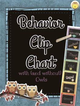 BUNDLE Behavior Clip Chart +Daily Behavior Log (5 weeks)-