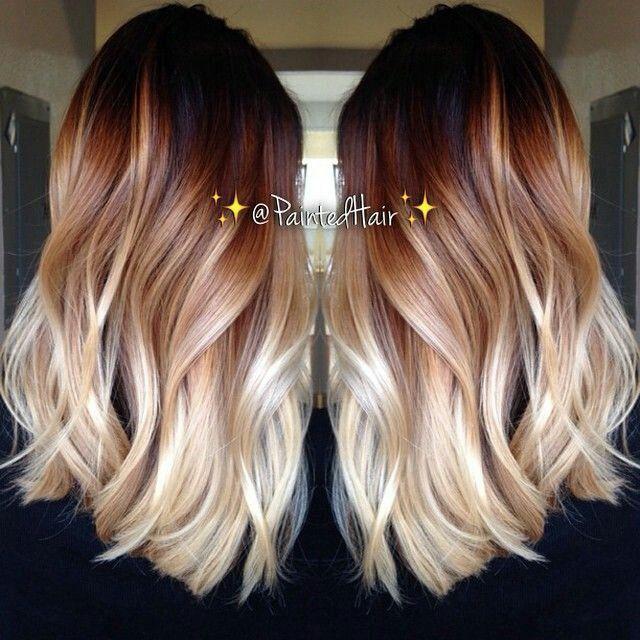 Warm ombré hair color