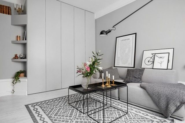 nowoczesny salon z szafą - Szukaj w Google