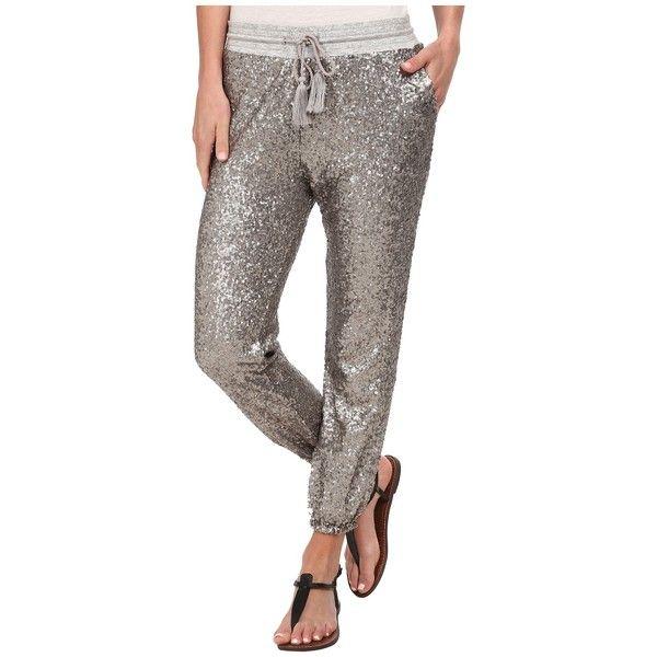 Amuse Society Mason Pant Women's Casual Pants ($132) ❤ liked on Polyvore featuring pants, cuff pants, cuffed jogger pants, pocket pants, stretch waist pants and jogger pants