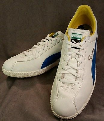 49d6378608d italy vintage mens puma white blue leather pele soccer futbol retro shoes  sneakers 13 goody two