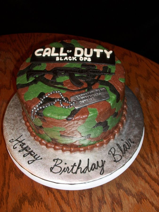 Black Ops Birthday Cake | Call of Duty Black Ops Cake — TV / Movies / Celebrity