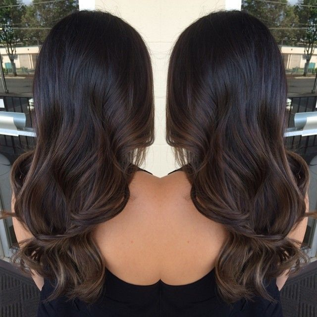Balayage Hairstyle long layered brown and caramel balayage hair Image Result For Balayage Black Hair Subtle