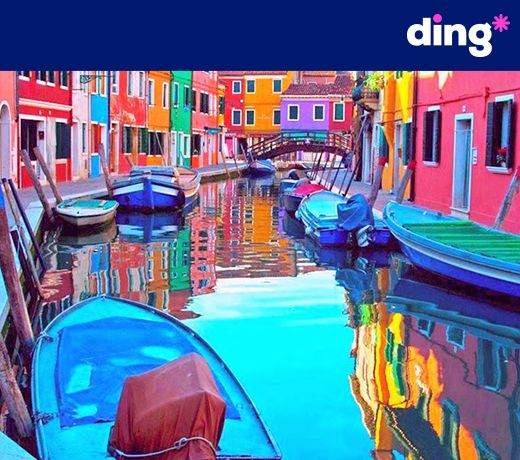 It's a color explosion!  Wherever you are in the world, you can top-up with ding*! www.ding.com