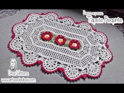 Tapete de Crochê - Flor Requinte - YouTube
