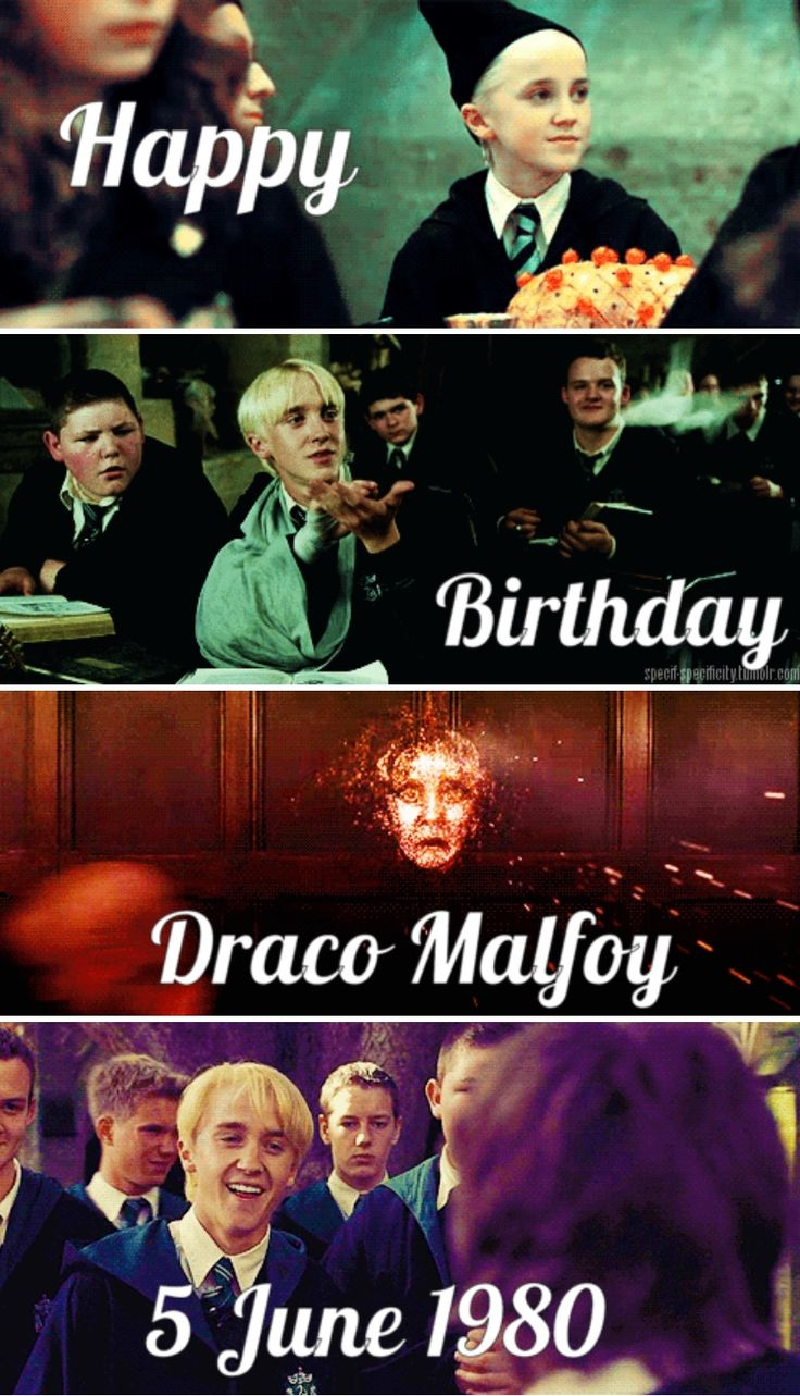 Happy 37th birthday Draco Malfoy! June 5th