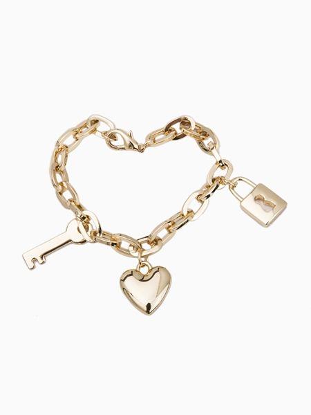 Key & Lock Chain Bracelet