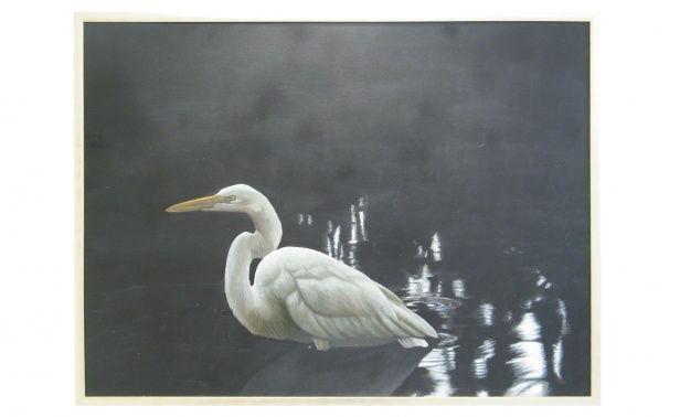 Coco Republic Egret Oil Painting - Large