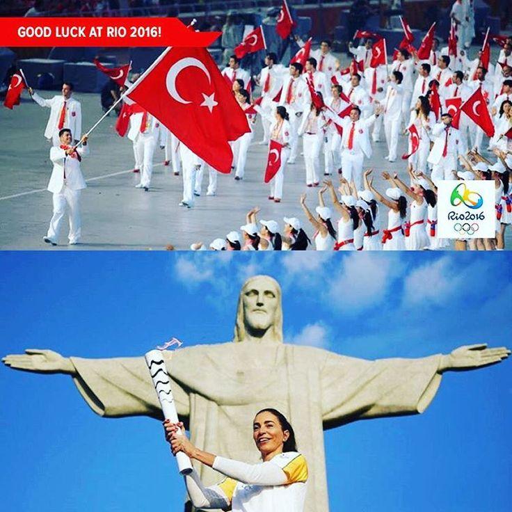 Good luckto the 103 Turkish athletes of the #Turkish Olympic National Team!  Bello #Rio2016 #PotanınPerileri  #tochaolímpica #Brazil #riodejaneiro #Turk #Turkey #Rio #tochaolimpica2016 @rio2016