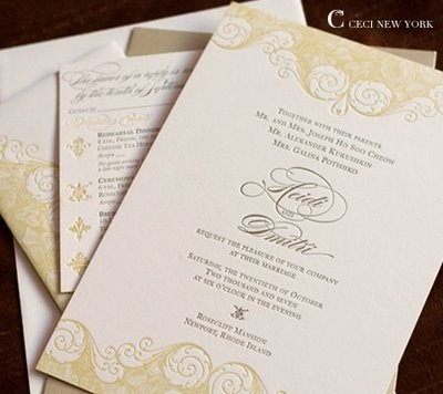 Insanely Expensive But GORGEOUS Couture Wedding Invitations    Ceci New  York | Corettau0027s Elegant Events