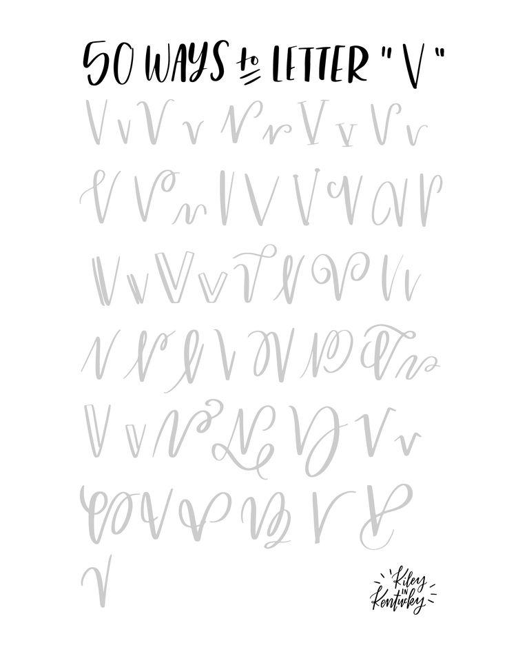 50 Möglichkeiten den Buchstaben V zu lettern