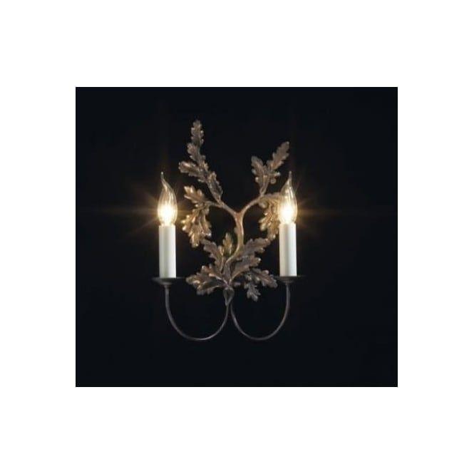 David Hunt LEA0963 Leaf 2 light traditional wall light bronze finish - Wall Lights from Ocean Lighting UK
