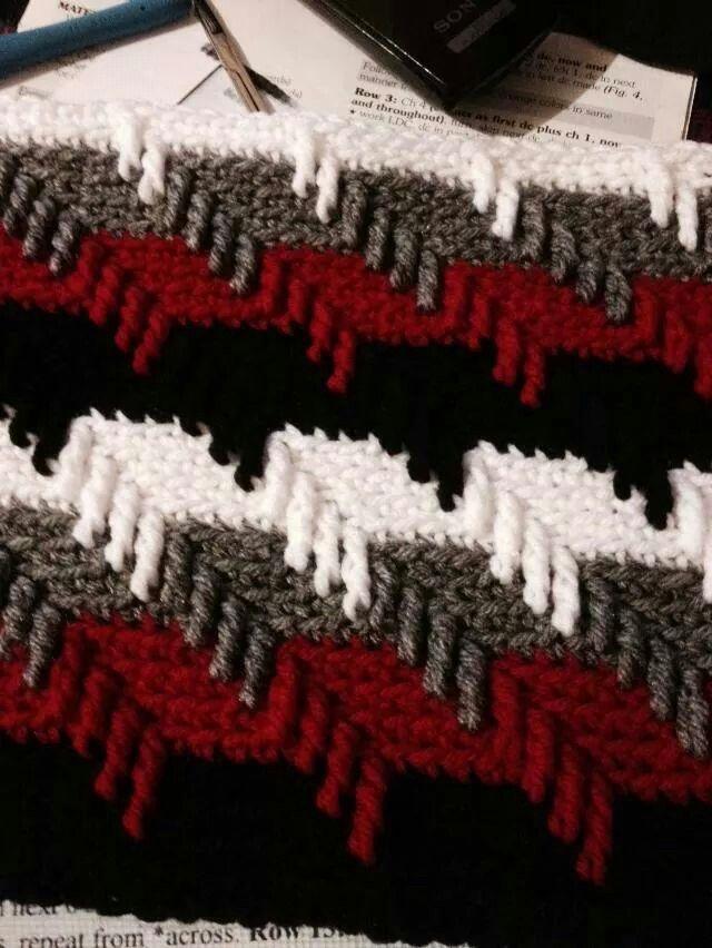 Contemporáneo Patrones Afganos Ganchillo Rojo Y Blanco Fotos ...