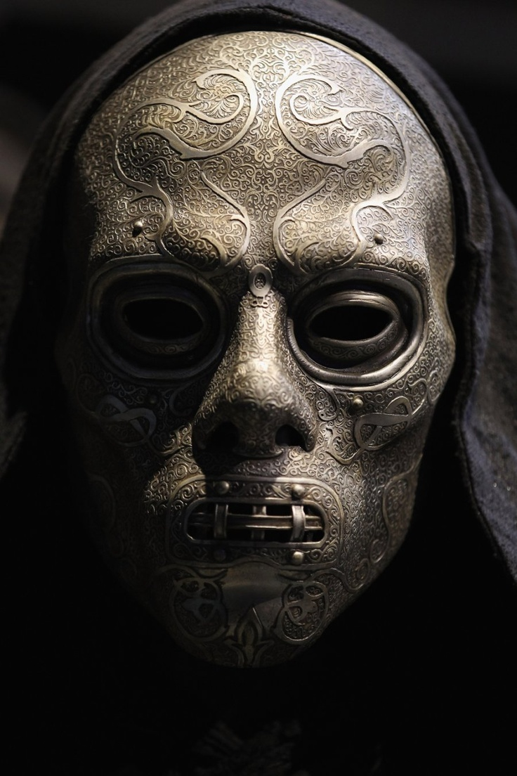 We bet this Death Eater mask is even scarier in person than it was in the film.