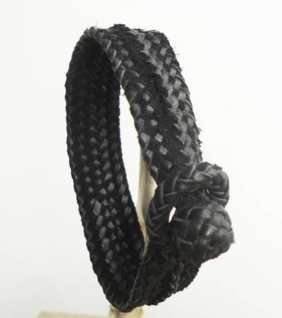 Hand crafted unique bracelet. Leather Braided Jewelry