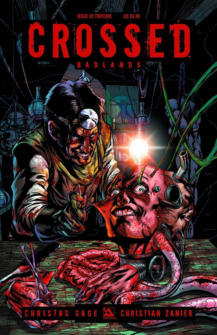 Comic Book Cover Art For Sale ~ Crossed badlands torture cover avatarpress