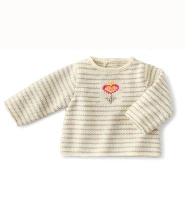Modèle brassière coeur bébé