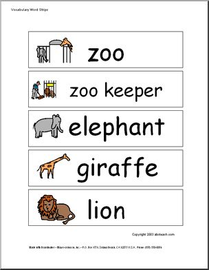 Zoo Word Wall : great for zoo theme or to use before going to the zoo. Pictures are great for younger readers. #education #kids