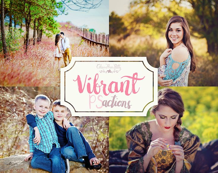 Vibrant Actions {Photoshop Actions for CS5, CS6 and CC}