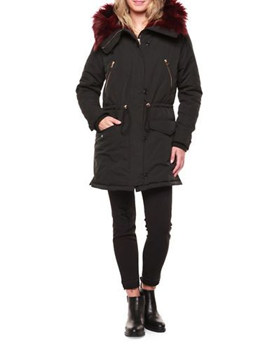 DEXColourful Fur Lined Parka