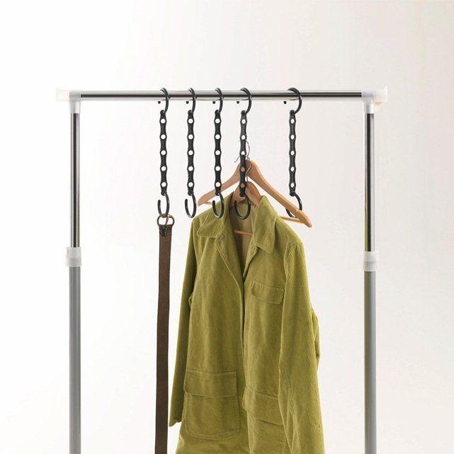 Hanger voor kleerhanger, (set van 5) La Redoute Interieurs : prijs, mening en score, levering. Bespaar tot 40 % plaats in uw kasten met deze hangers voor kleerhangers in plastiek, kan tot 5 kleerhangers ontvangen !