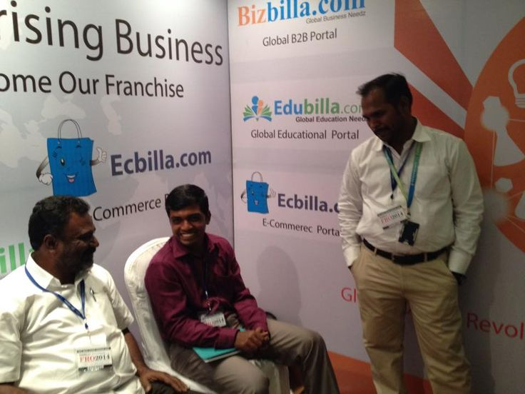 Stall of #SGBC_India which is the sister concern of #Svasamsoft. (from left- CEO, Chairman, CTO of Svasamsoft)