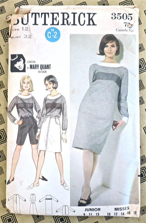 Butterick 3505 - Vintage 1960s Mary Quant Smocked Dress ...