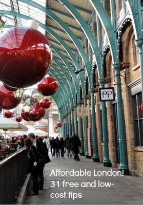 "Covent Garden decorated for Christmas. ""Affordable London! 31 free and low-cost tips"" http://solotravelerblog.com/affordable-london-31-free-and-low-cost-tips/"
