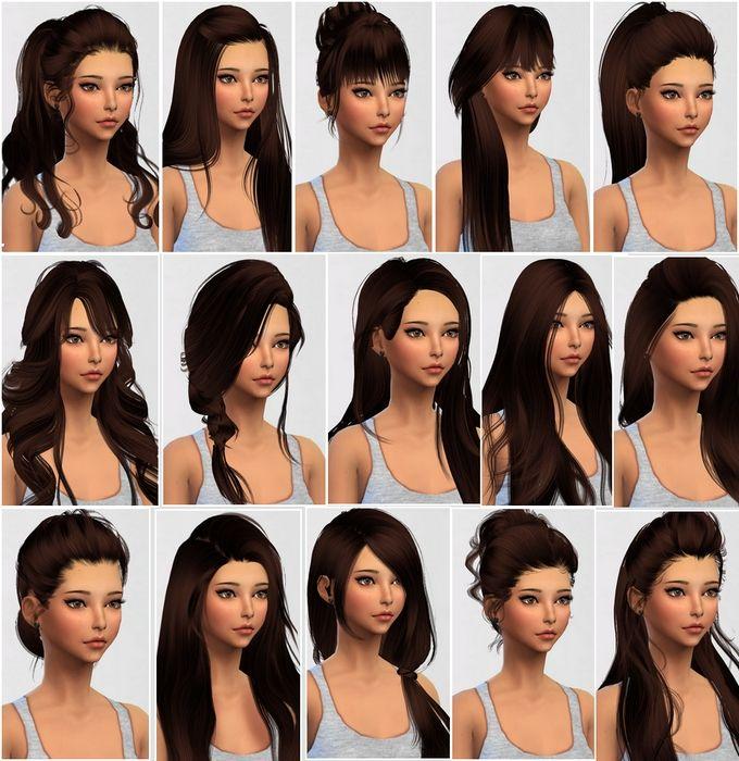Sims 4 Coiffures A Telecharger Coiffures Cheveux Longs Coiffures Cheveux Gris Coiffure Cheveux Long Coiffure