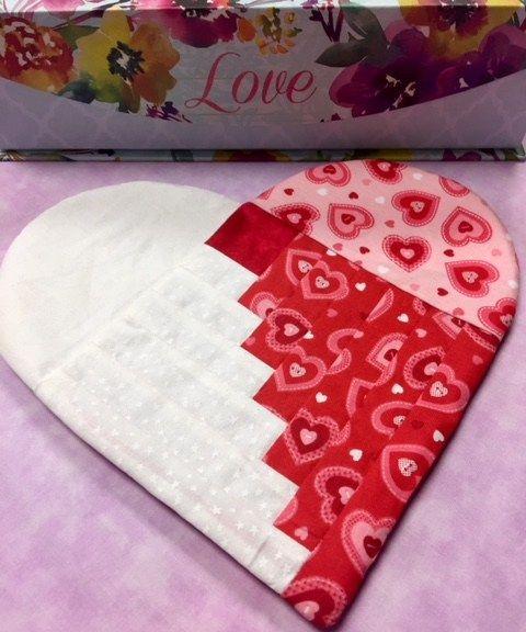 Valentine Heart Mug Rug Kimberly S Fabric Stash Mug