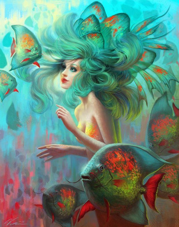 Fantasy illustration by Viccolatte from Sweden