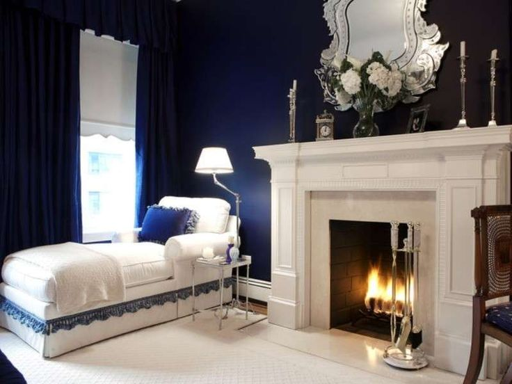 Camera da letto blu e bianca (Foto 5/40) | Design Mag