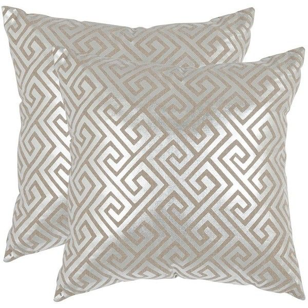 Safavieh Metallic Geometric 2-piece Throw Pillow Set ($111) ❤ liked on Polyvore featuring home, bed & bath, bedding, blankets, silver, geometric blanket, cream blanket, pattern bedding, geometric bedding and safavieh