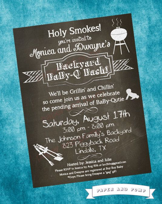 Hey, I found this really awesome Etsy listing at http://www.etsy.com/listing/152150306/baby-shower-invitation-baby-q-bbq-boy