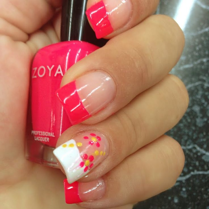 Neon polishes are a hit this summer. Wear them during the weekend or for girls' night.