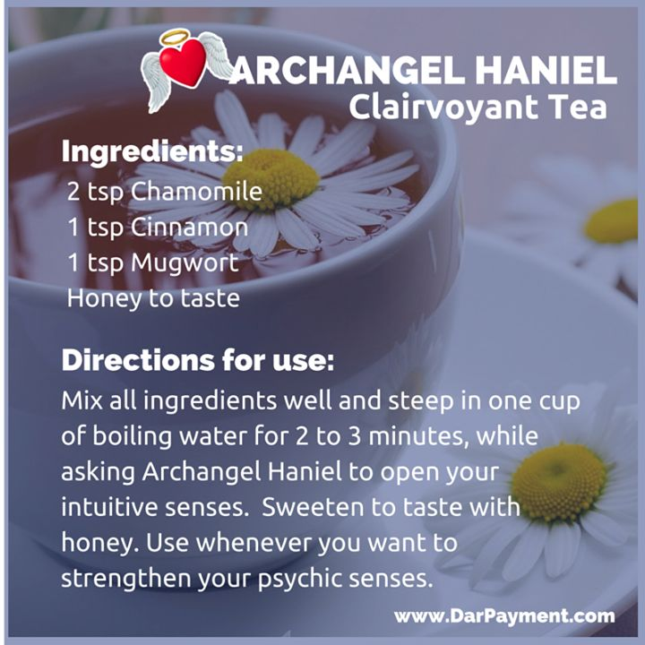 ARCHANGEL HANIEL CLAIRVOYANT TEA. From the book The Archangel Apothecary - https://store.bookbaby.com/book/The-Archangel-ApothecaryArchangel Haniel  Archangel Haniel, essential oils, aromatherapy, archangels, angels, angel communication