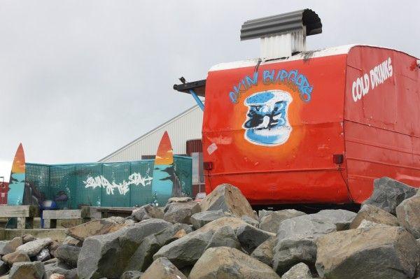 Ekim Burger caravan at Lyall Bay, Wellington