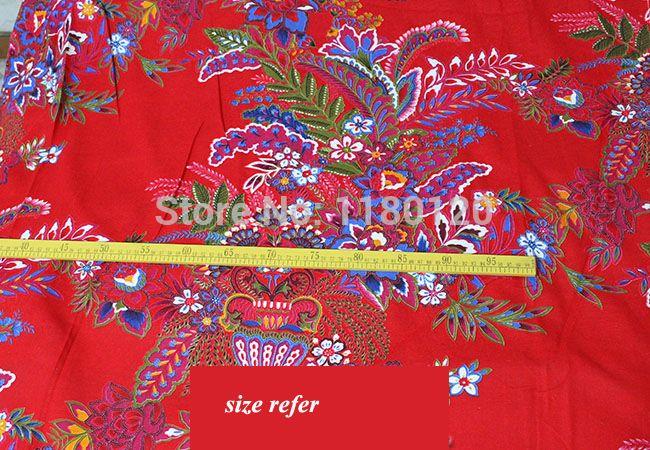 Goedkope Chinese traditionele bruiloft linnen stof rode bloem patroon linnen materiaal textiel 50*140 cm verkocht…