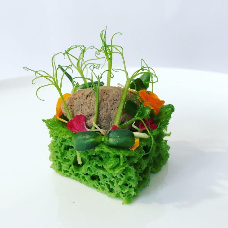 Giardino d'estate… Spugna agli spinaci con paté di fegato alla veneziana | zenzero in cucina
