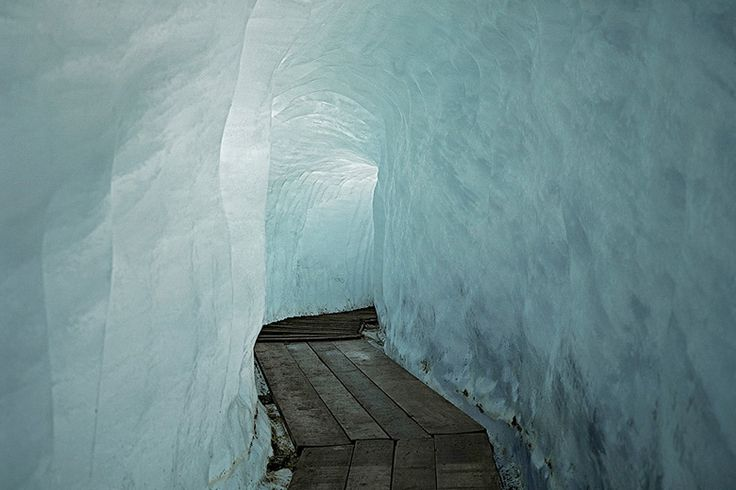 Ice corridor in the arctic. Lead to the coast somewhere...