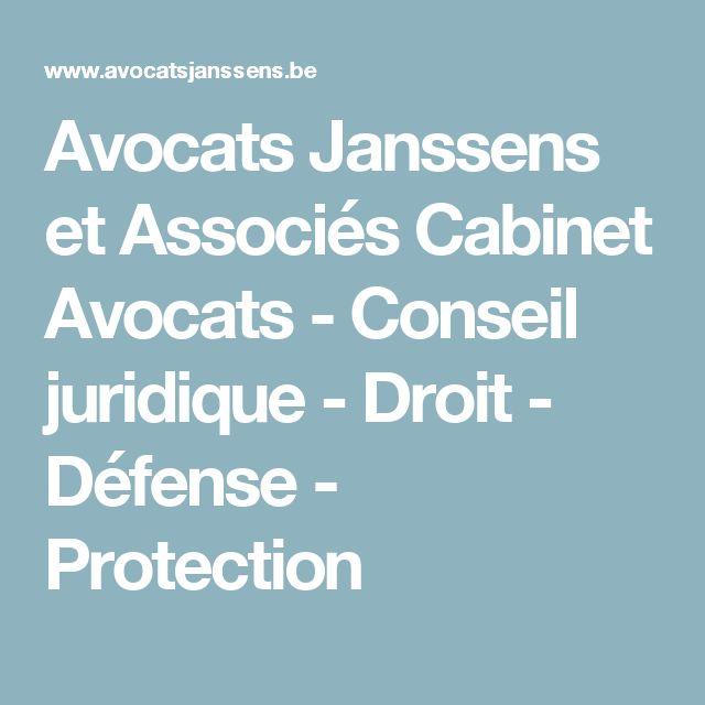 Avocats Janssens et Associés Cabinet Avocats - Conseil juridique - Droit - Défense - Protection