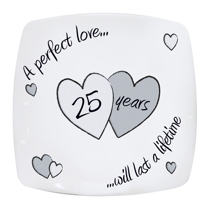 Wedding Plate 25th Silver Anniversary Perfect Love Gift Idea Stuff To Try Gifts