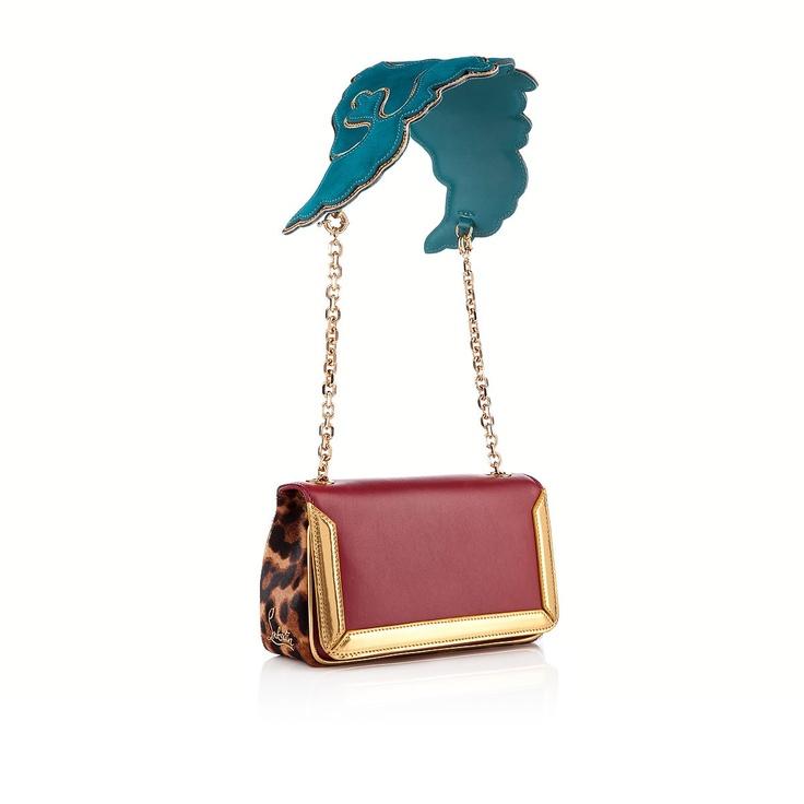 LOUBOUTIN ARTEMIS INDIES , Leather, RED/SAHARA, Women Bags.