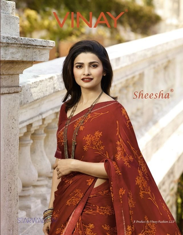 9884dad47f Krishna Creation » vinay sheesha starwalk 39 georgette satin designer  printed saree wholesale price