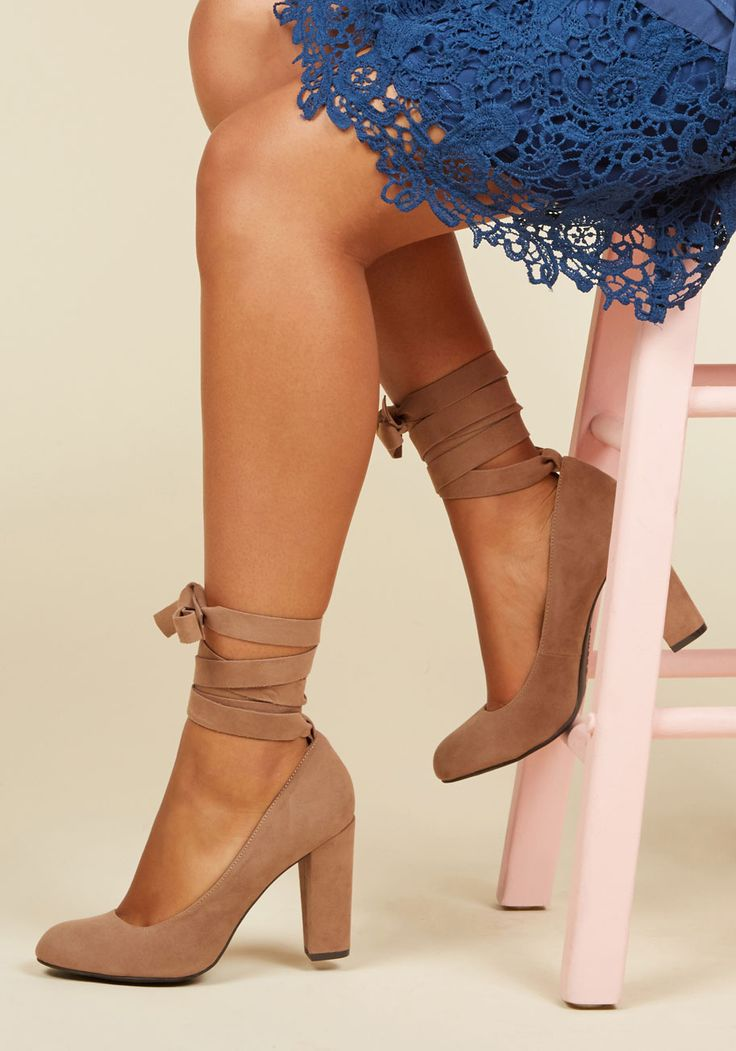 Charismatic Candidate Heel in Sand. In the race to be your prime footwear pick, these tan pumps are elected as your final choice for the evening! #brown #modcloth