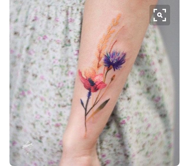 Style: Water colour tattoo
