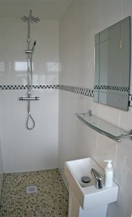 Classic Modern Wet Room Small bathroom shower sink
